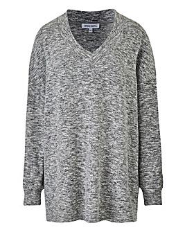 Soft Touch V Neck Sweatshirt