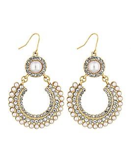 Lipsy Pearl Braid Earrings