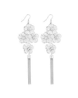 Lipsy Floral Crystal Chandelier Earring