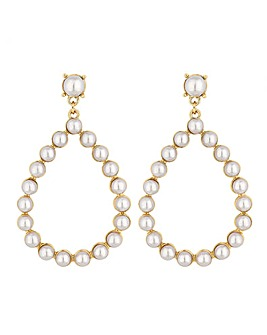 Lipsy Pearl Hoop Earrings