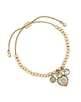 Lipsy Heart Charm Toggle Bracelet