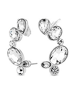 Lipsy Crystal Ear Cuff Set