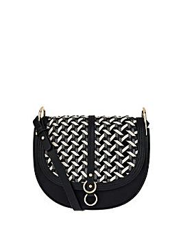 Accessorize Pearcey Woven Saddle Bag