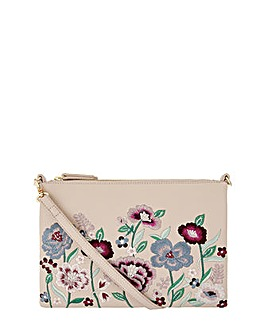 Accessorize Floral Embroidered Xbody Bag