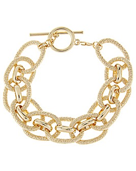 Accessorize Chunky Chain T Bar Bracelet