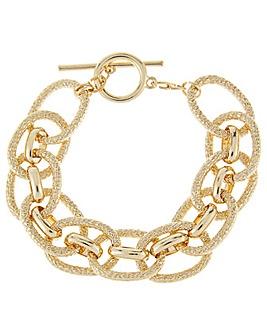 Accessorize Chunky Chain T Bar Bracelet