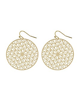 Accessorize Circle Stamping Earrings