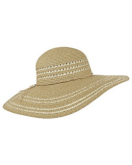 Accessorize Two Tone Floppy Hat