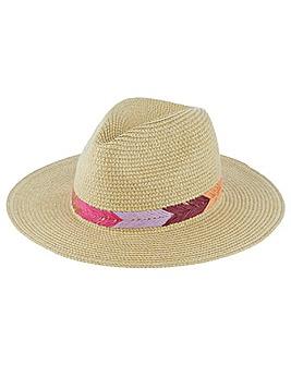 Accessorize Raffia Fedora Hat