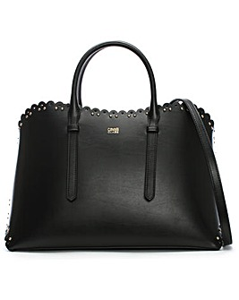Class Cavalli Leo Lace Leather Tote Bag