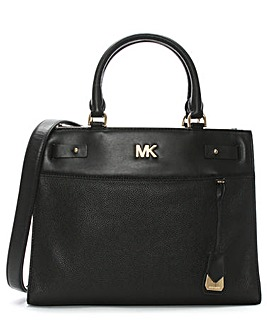 Michael Kors Structured Leather Satchel