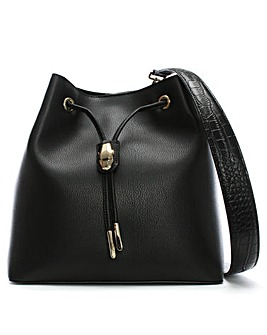 Class Cavalli Draw String Bucket Bag