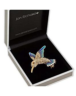 Jon Richard Crystal Hummingbird Brooch