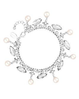 Jon Richard Diamante Pearl Drop Bracelet