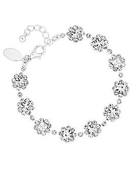 Jon Richard Diamante Floral Bracelet