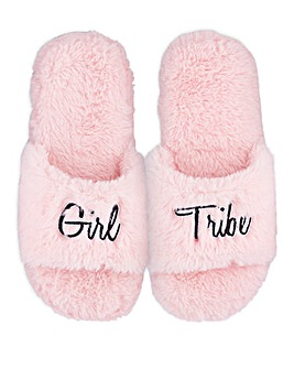 Girl Tribe Fluffy Slider Slipper