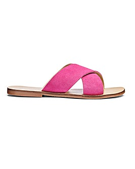 Mollie Leather Sandals Wide Fit