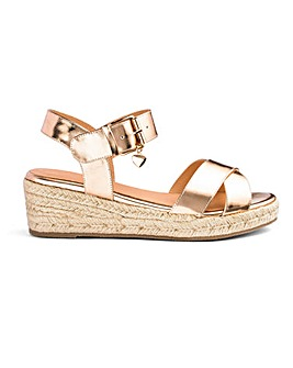 Frankie Espadrille Wedges Wide Fit