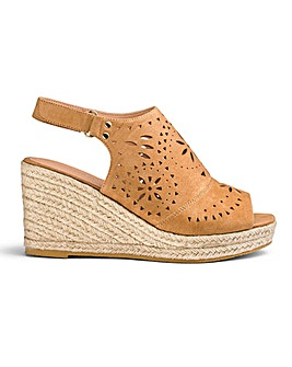 Elsa Cut Out Wedges Wide Fit