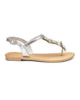 Cheryl Butterfly Sandals Extra Wide Fit