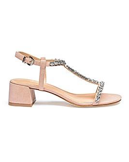 Jenny Block Heel Sandal Wide Fit