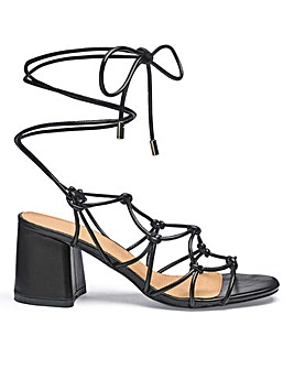 Megan Knot Detail Heels Extra Wide Fit