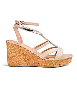 Imi Jewelled Wedge Wide Fit