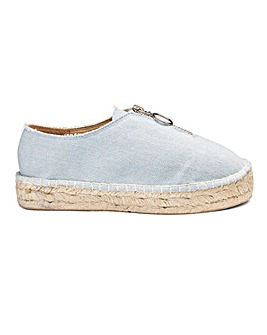 Ashley Zip Espadrille Wide Fit