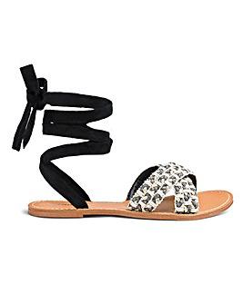 Glamorous Tie Sandal Standard Fit