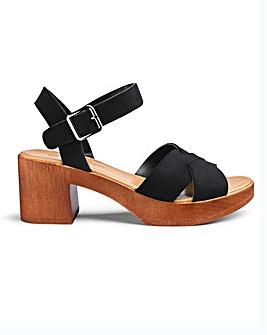 Liza Cross Strap Sandals Wide Fit