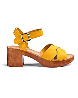 Liza Cross Strap Sandals Wide Fit