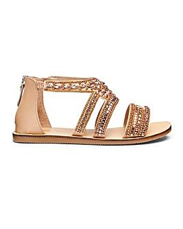 Gemma Jewel Sandals Wide Fit