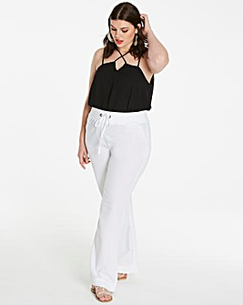 Slouch Linen Mix Trouser Short