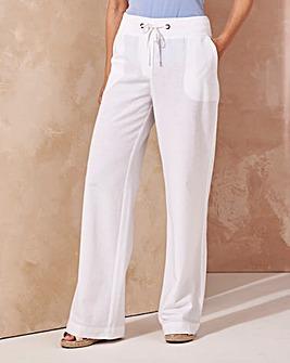 Slouch Linen Mix Trouser Short