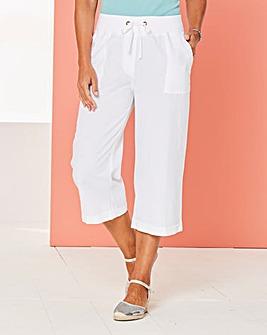 Crop Slouch Linen Rich Trousers Reg