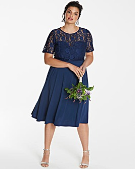 ITY Lace Bodice Skater Dress