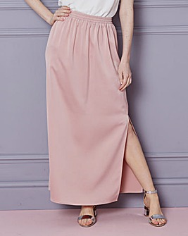 Column Maxi Skirt with Side Split