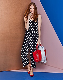 Spot Print Layer Jumpsuit