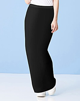 Stretch Jersey Tube Maxi Skirt