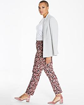 Printed Cotton Sateen Trousers Regular