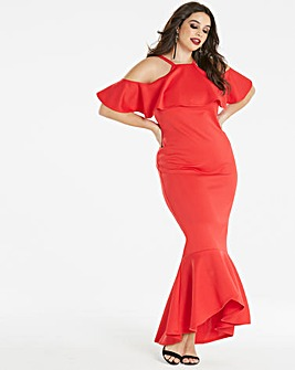 Simply Be by Night Cold Shoulder Dress