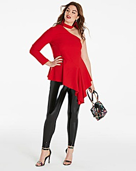 Simply be Choker Neck Asymmetric Blouse