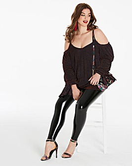 Simply Be Drop Shoulder Glitter Top