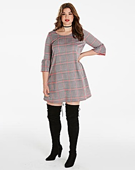 Simply Be Checked Swing Dress
