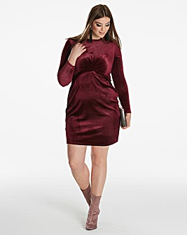 Simply Be By Night Velour Knot Dress