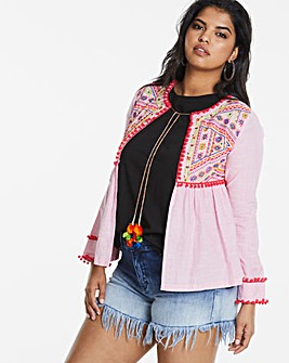 Stripe Embroidered Festival Jacket