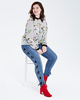 Spot Floral Print Blouse