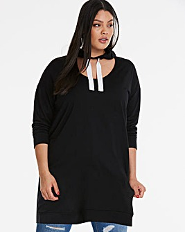 Choker Hoody Sweat Dress