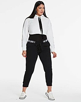 Logo Lace Up Cropped Jogger