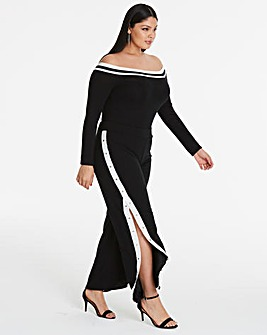 Side Stripe Popper Trousers